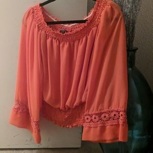 Blaze Orange blouse